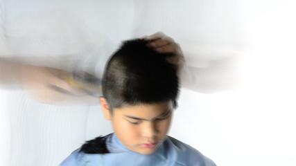 Boys haircut , time Lapse. High Definition 1920x1080