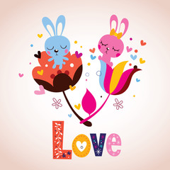 bunny characters in love
