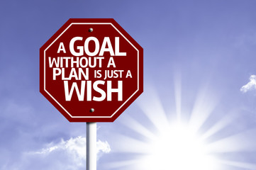 A Goal Without a Plan Is Just a Wish red sign