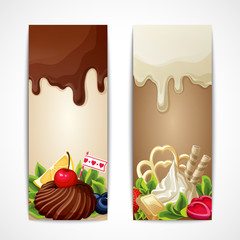 Chocolate banners vertical