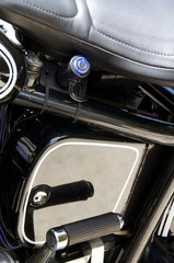 motorcycle detail with power plug