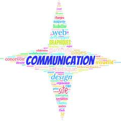 site web communication marketing nuage de mots