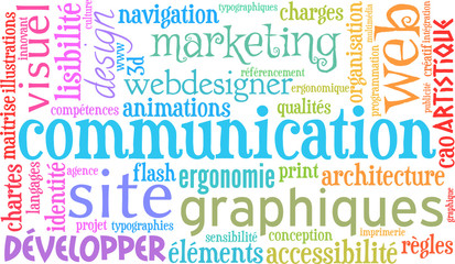 site web communication marketing nuage de mots