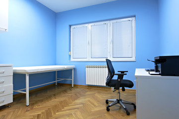 Interior room medical ultrasound diagnostic