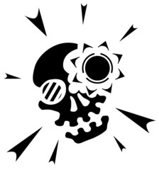 Skull Light Symbol