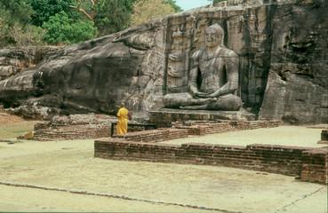 Buddha Statue in Gal Pota Temple, Polonnaruwa