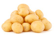 canvas print picture - new potato tuber isolated on white background cutout