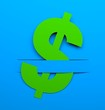 Dollar sign. Conceptual image