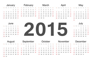 Vecto rcircle calendar 2015