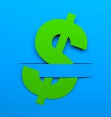 Dollar sign. Conceptual image