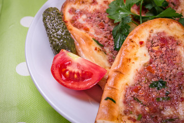 Turkish pizza.