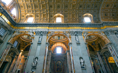 Interior of St. Peter's Basilica in Rome
