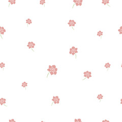 cute spring pink floral seamless background