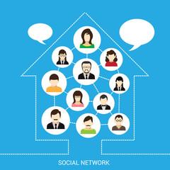 Social network house
