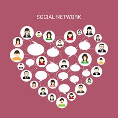 Social network heart