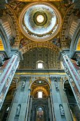 Interior of Saint Peter's Basilica in Rome