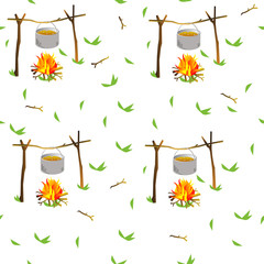 Seamless pattern Bonfire