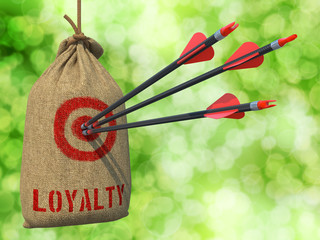 Loyalty - Arrows Hit in Red Target.