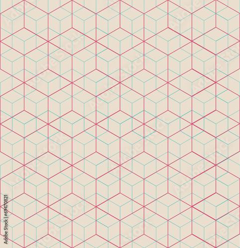 Foto op Plexiglas Kunstmatig Cubic pattern
