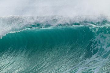 Wave Curl Closeup Crashing Ocean Power