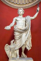 Statue of Emperor Claudius in the Vatican Museum