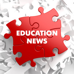 Education News on Red Puzzle.