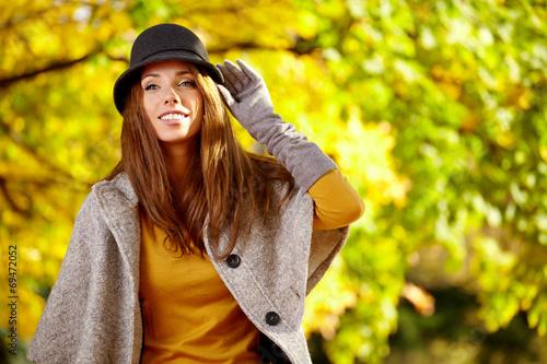 canvas print picture Autumn woman portrait