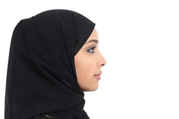 Profile of an arab saudi woman face with perfect skin