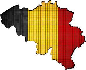 Belgium Map map grunge mosaic