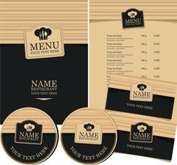 set of elements for design style restaurant