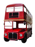 Isolated London Bus
