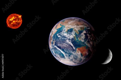 Earth Sun Lunar Eclipse Poster