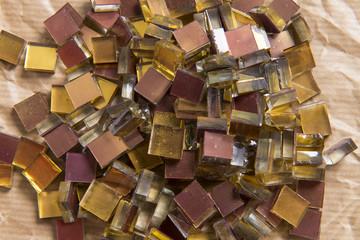 Mosaico, tessere di vetro oro