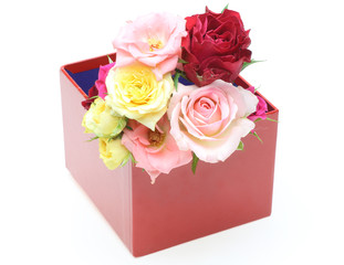薔薇とギフトボックス