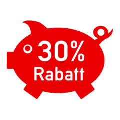 rs30 - RabattSchwein rot - 30 Prozent - g1413