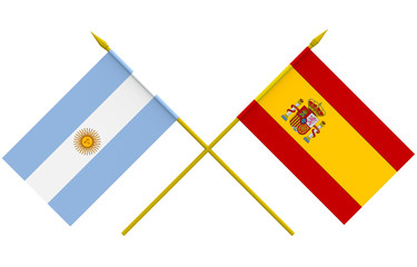 Flags, Argentina and Spain