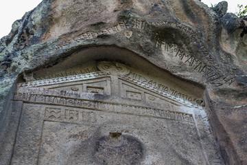 Areyastis Monument in Yazilikaya,Eskişehir.