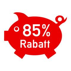 rs85 - RabattSchwein rot - 85 Prozent - g1428