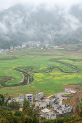 river named ming, landscape in bama guangxi, China,