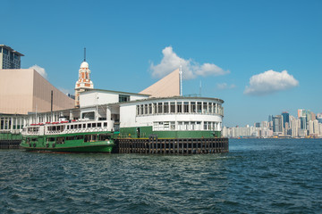 HONG KONG - AUGUST 27: Star Ferry leaving Central pier on August