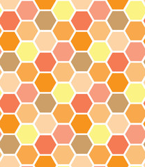simple color honeycomb seamless pattern