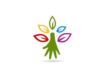 natural root helping hand education logo