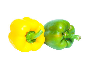 Bell peppers isolated with clipping path