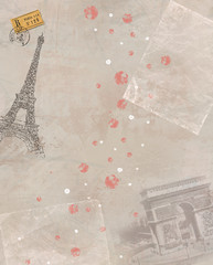 Paris theme illustration