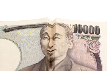 Happy face on Japanese bill