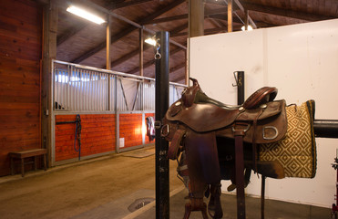 Saddle Center Path Horse Paddack Equestrian Stable