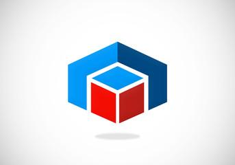 business building shape construction vector logo