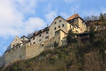 Back side of castle Prince of Liechtenstein