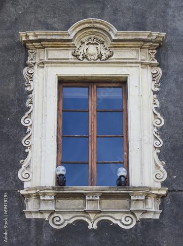 canvas print picture Old sicilian window