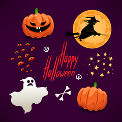 Set of cute icons for Halloween - 2